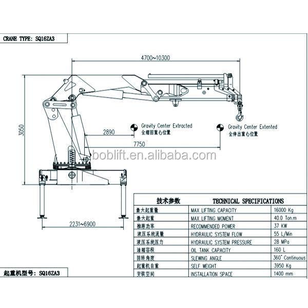 New SQ16ZA3 10m 16 Ton Knuckle Boom Used Lattice Truck Crane Sales Made In China