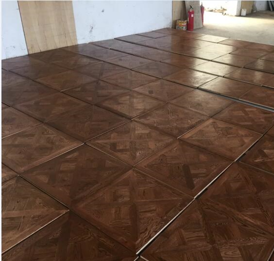 Versailles Design UV Oiled Finish Color Stained Oak Solid Parquet Tile