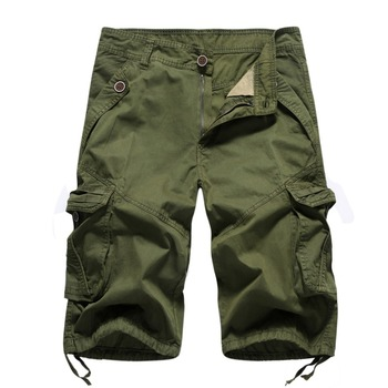 wholesale ful cotton plus size army men washed cargo shorts