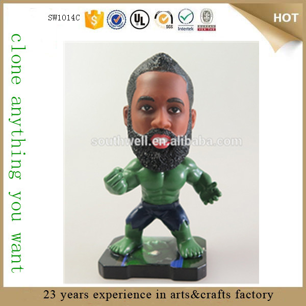 Guangzhou Canton Fair 2015 high quality nba action figures custom bobblehead figures