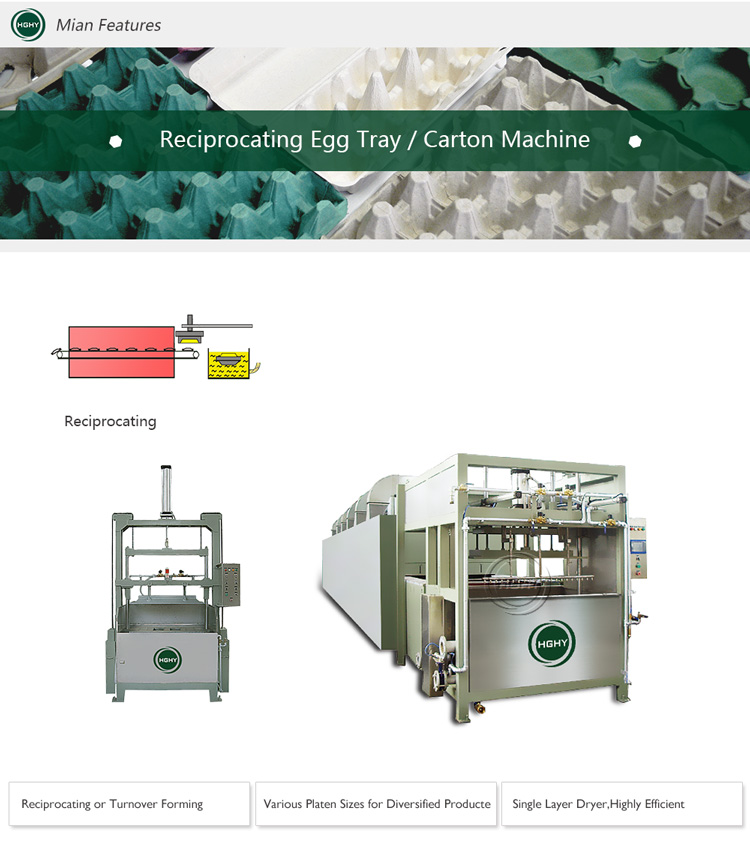 Pulp egg tray machine industrial box pulp egg tray machine with multilayer dryer