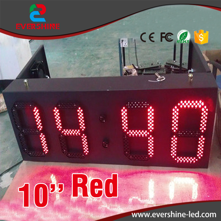 outdoor weatherproof down timer clock led clock time date temperature sign/ led gas station display