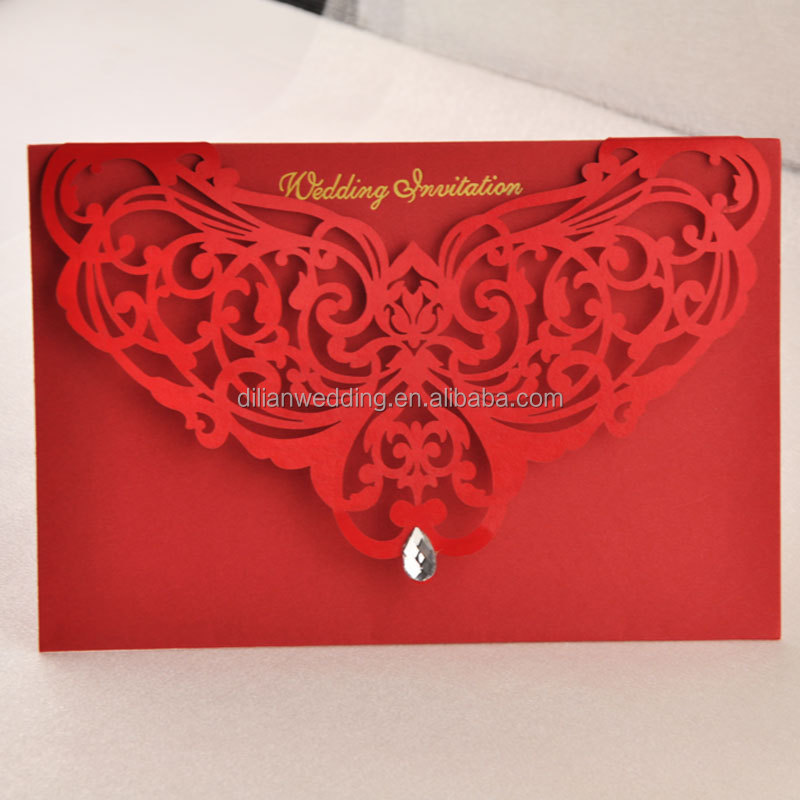 Maroon Color Handmade Wedding Invitation Card,Wedding Card ...