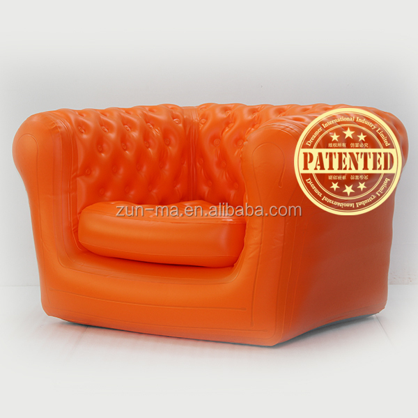Outdoor Inflatable Pvc Leather Recliner Sofa Furniture For Adults