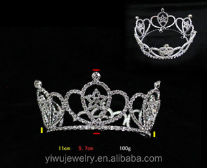 Fashion Rhinestone Full round Pageant Star Crowns and Wands H172-174