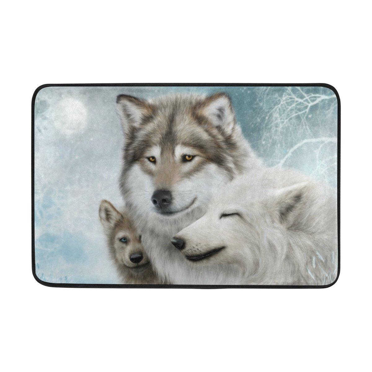 83fd664faac Get Quotations · DemonCo Wildlife Wolf Door Mat Doormat
