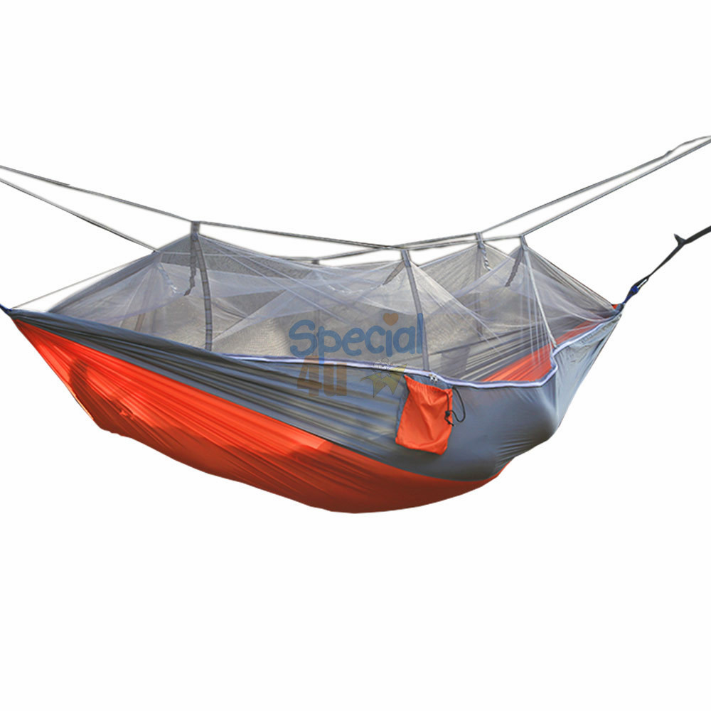 YKSP-182 Amazon Top Seller 2017 High Quality Parachute Nylon Mosquito Net Hammock Swing Bed Chair Hammock With Straps And Hook