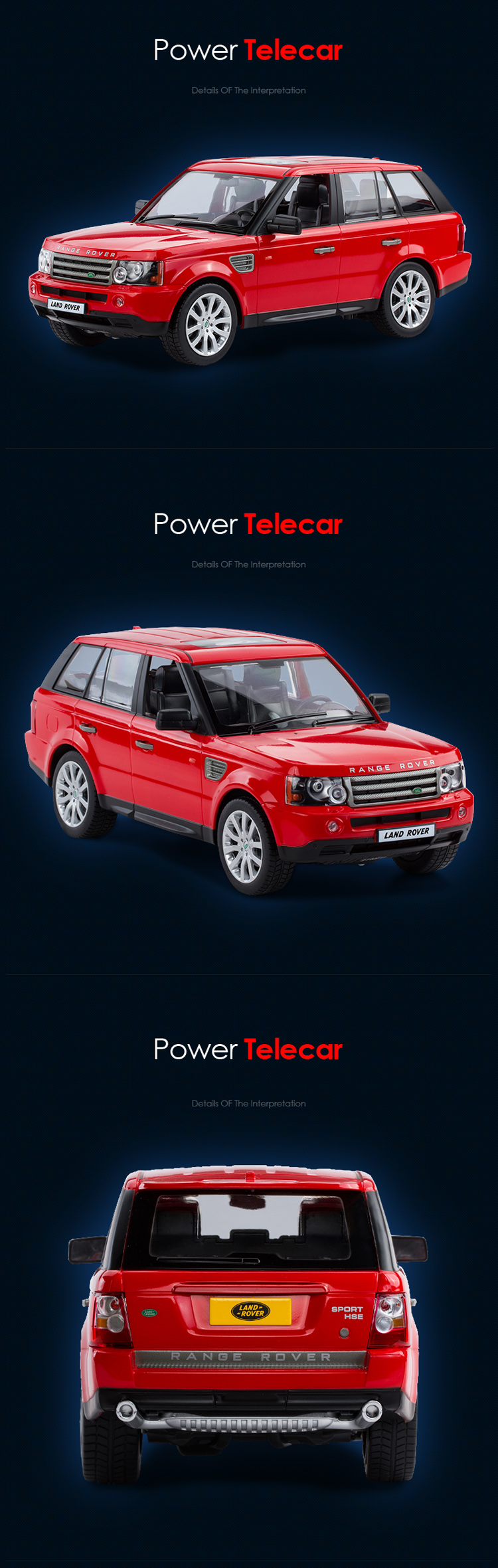 LAND ROVER 1:14 ABB spray painting model car RASTAR battery powered remote control rc car