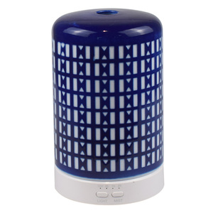 nice ceramic pattern design electric fragrance oil ultrasonic diffuser with 7 cycling led Light & timer settings