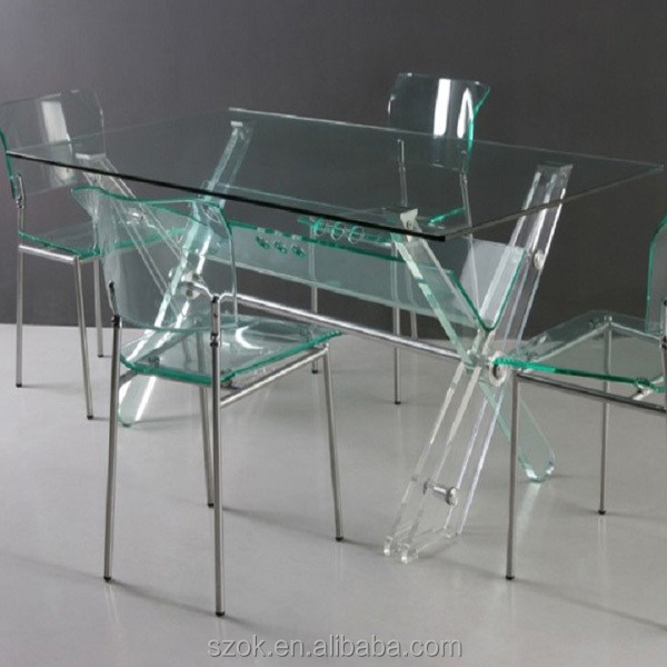 Clear Kitchen Table Part - 34: Clear Acrylic Table And Chairs, Clear Acrylic Table And Chairs Suppliers  And Manufacturers At Alibaba.com