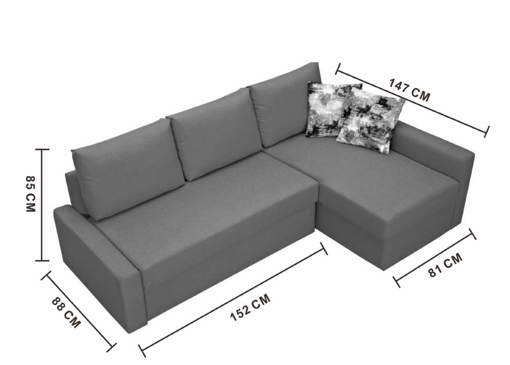 l shaped sofa standard size