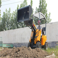 construction machine!!HW200 Powerful pulling force and four wheel drive mini track loaders Compact front end loaders