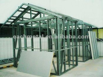 Modular kit prefab one room house buy prefab steel frame for Steel frame cabin