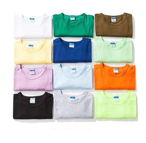 Wholesale men's basic short sleeve T shirts with custom logo