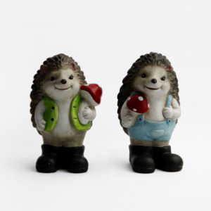 Ceramic Miniature Fairy Garden Hedgehog Mushroom Home Decoration Outdoor Decor