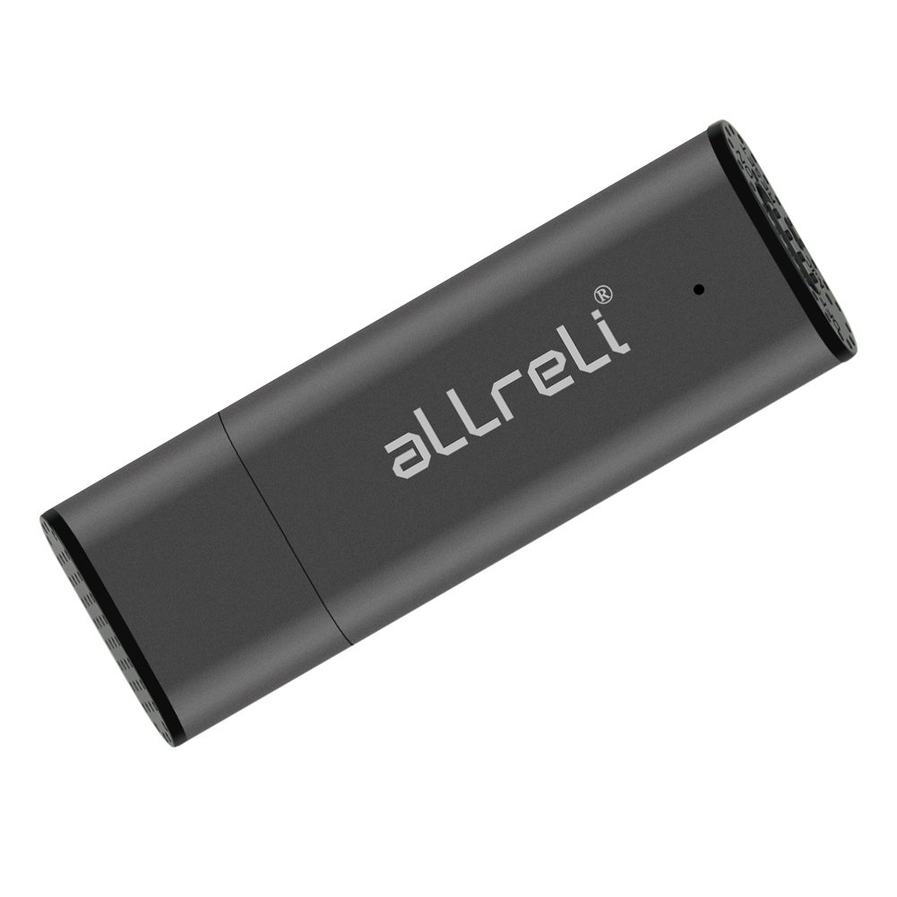 aLLreLi CP00341 8GB Mini USB Voice Recorder [Gray] - 2-in-1 Portable Rechargeable Digital Spy Dictaphone & USB 2.0 Flash Drive for Recording Interviews, Meetings and Students Learning