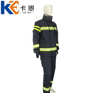 High temperature fireproof firefighter uniform for sale