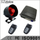 Remote shock sensor bypass Anti hijack one way car alarm system with ultrasonic sensor, 3 relay hot in Uruguay market