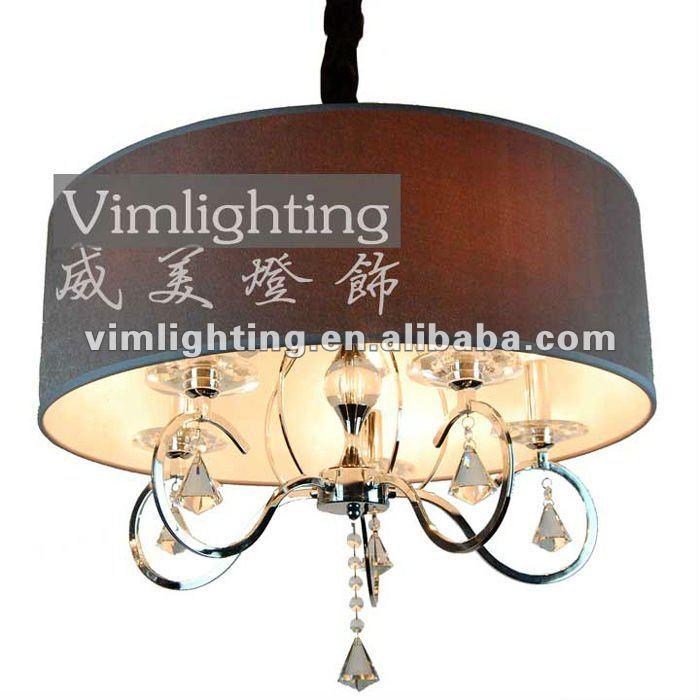 populaire luxe kroonluchter met stoffen kap slaapkamer lampen
