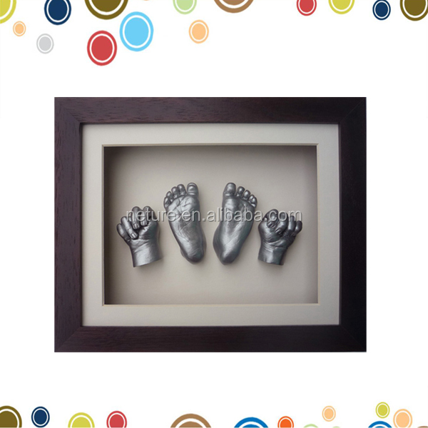 Creative 3d Baby Handprint Frame Clay In High Quality Shadow Box ...