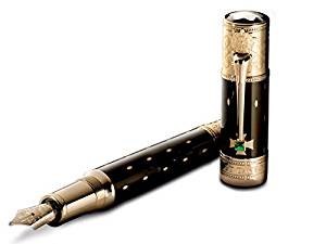 Montblanc Fountain Pen 105728 Limited Edition 2010 Im Elisabeth - Pen Resin Black / Yellow Gold 18k Montblanc