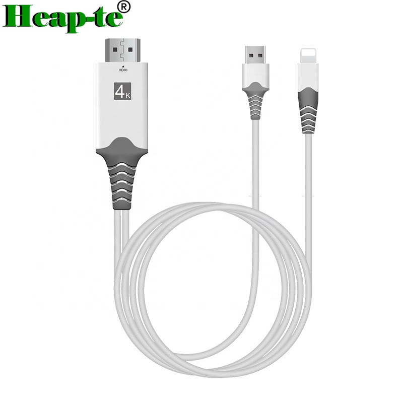 US 2m 1080P HDMI HDTV Cable For iPhone Digital AV Adapter For iPhone 8 7 6 s 5S