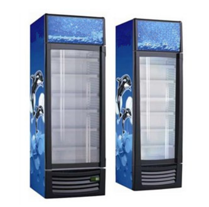 232L Vertical Defrost Or No Frost Beverage Beer Can Upright Display Cooler Fridge Showcase Single Door Refrigerator