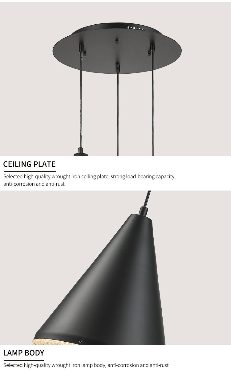 New Design Vintage Cast Iron Lamp Black Hanging Ceiling Light