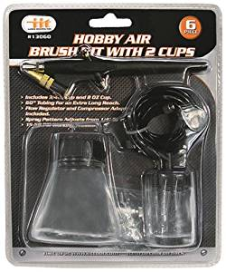 IIT 13060 Hobby Air Brush Kit with 2 Cups,
