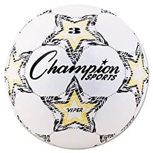 CHAMPION SPORT VIPER3 VIPER Soccer Ball, Size 3, White