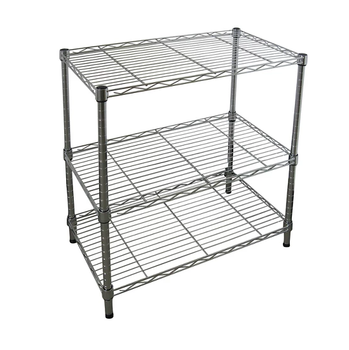 3 tier industrial wire shelving unit