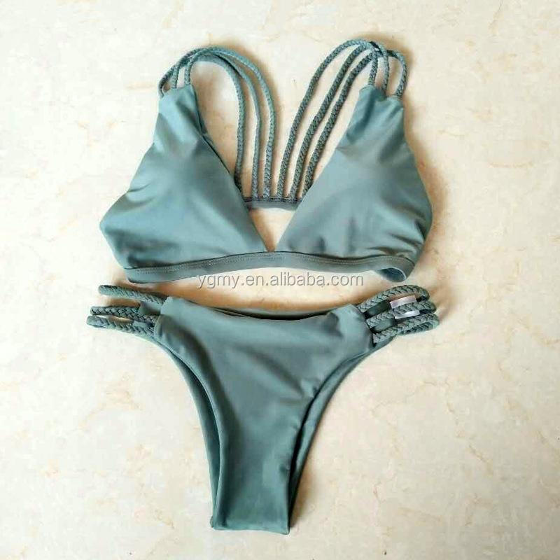 7ac81bd387bed Bikini 2018 Sexy Swimwear Women Swimsuit Bikini Set Cross Bandage Beach  Bathing Suit Low Waist Swimsuit