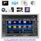 Manufacturer Car DVD Audio Player with GPS for VW with dvd radio tv BT steer wheel