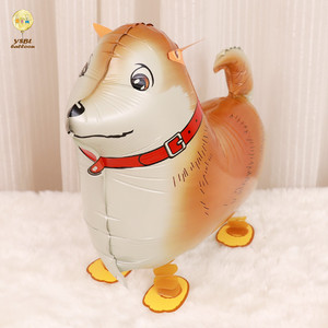 Party Decorations Walking Pet Foil Dog Animal Shape Air Walker Balloon For Kids Toys