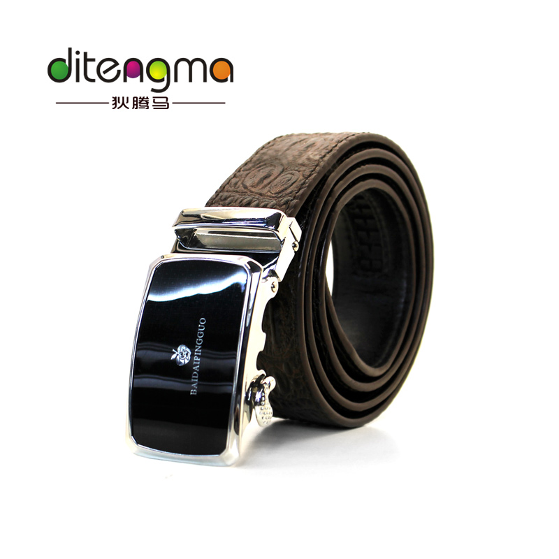 Wholesale Cheap Cow Alligator Print Manufacturer Belts Leather Men Genuine For Custom