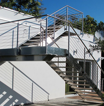 Delicieux Outdoor Metal Staircase, Outdoor Stair Railing Design, Galvanized Stairs,  Outdoor Prefabricated Steel StairsTS