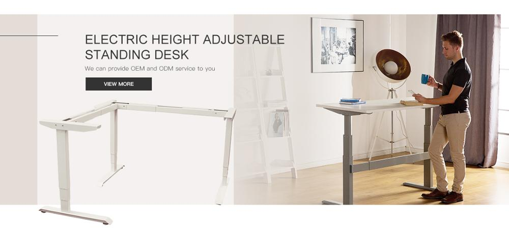 Brand new geometric high stability  electric up and down standing motor desk