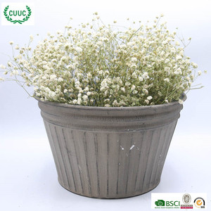 home & garden polished low MOQ metal flower large plant pots
