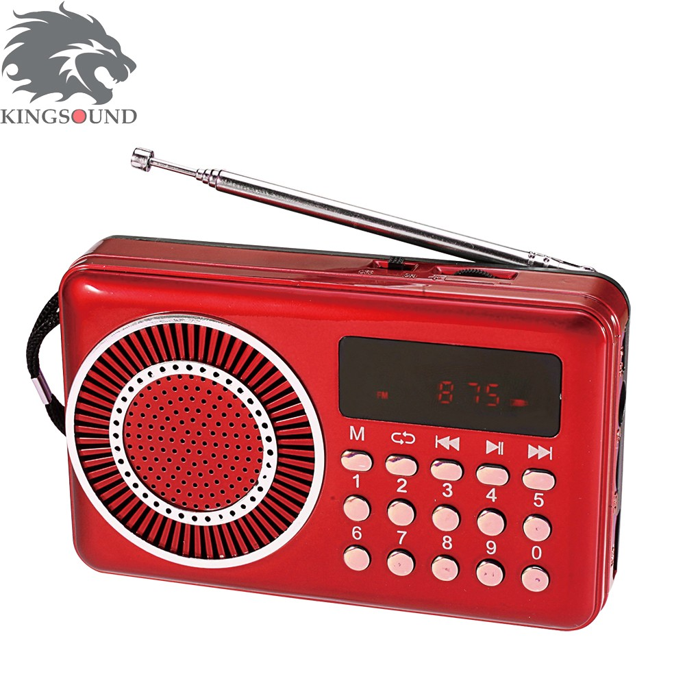 big discount functional mini digital rechargeable FM radio receiver