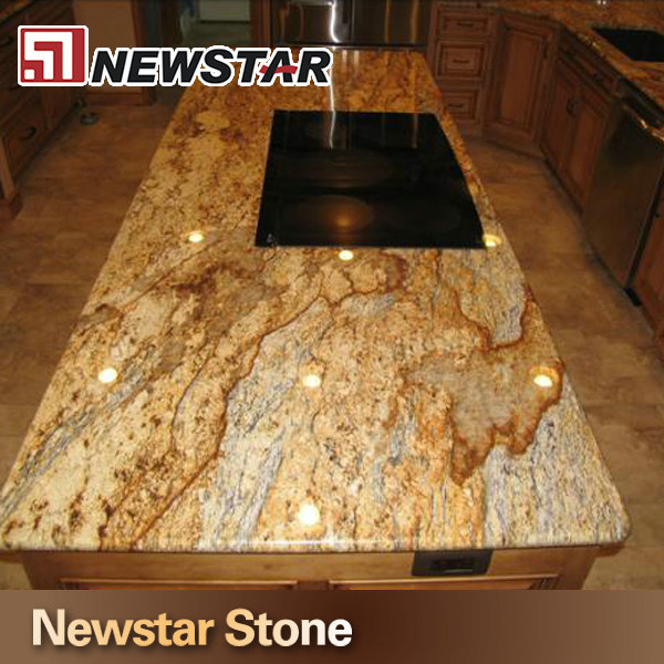 Chinese Hot S Polished Yellow River Granite Countertops Price Gold Slab