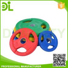 muscle training three holes rubber coated barbell plates