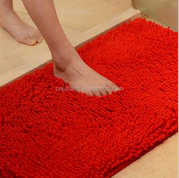 Washable Microfiber Waterproof Bath Mat Non Slip Bathroom Floor