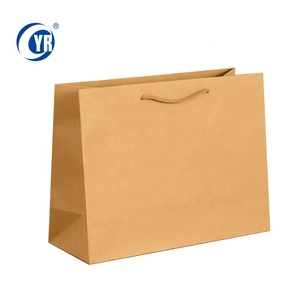 Custom Kraft Paper Bag With Own Logo Large Luxury Brown Black White Shopping Gift Bags With Handles