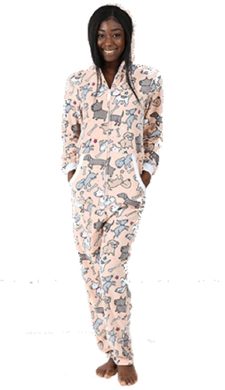0d3340eacc Get Quotations · boxercraft Dog Fleece Onesie Union Suit