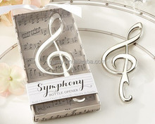 "Unique Wedding Favors ""Symphony"" Chrome Music Note Bottle Opener wedding gift"