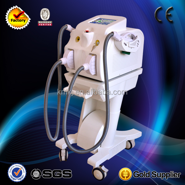 E-light IPL + RF system with Acne/freckle/hair removal/pigmentation treatments