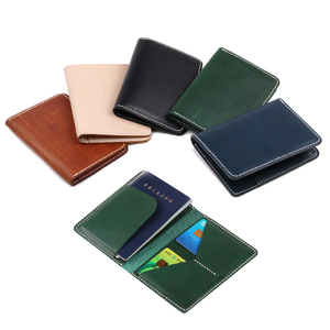 new arrival custom vegetable tanned leather passport holder