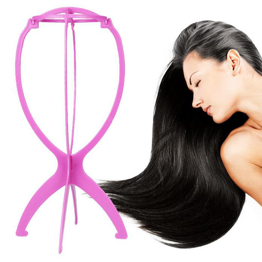 Profession cheap plastic wig stand display wig holder for long hair