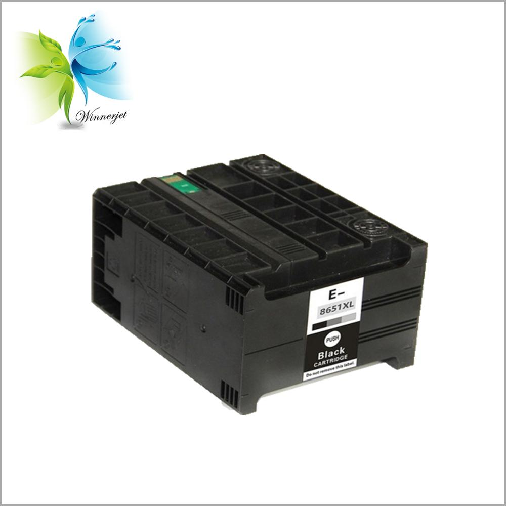 factory direct supply black ink cartridge with pigment compatible for Epson wf 5190 5690, T8651 cartridge