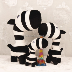 25cm 35cm spot cartoon forest animal zebra pattern giraffe stuffed toy